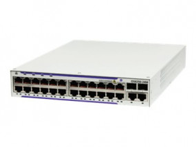 OS6250-P24-EU: OS6250-P24 Fast Ethernet chassis with AOS Enterprise software. Provides 24 PoE RJ-45