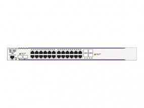 OS6850E-24X Gigabit Ethernet L3 fixed configuration chassis in a 1U form factor with 20 RJ-45 10/100